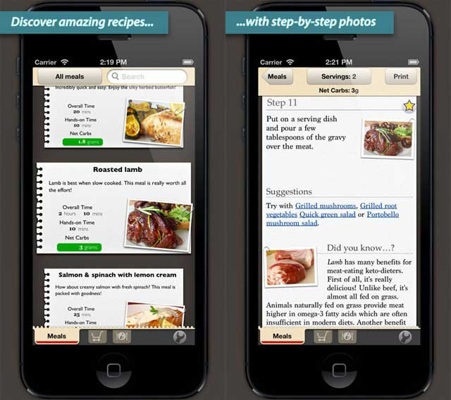 KetoDiet Basic for the iPhone is now on the AppStore!