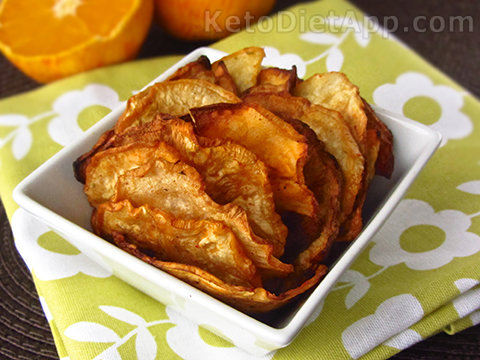 Low-Carb Orange Spiced Celeriac Chips