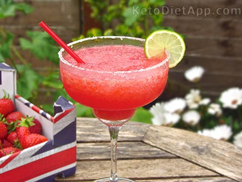 Low-Carb Frozen Margarita Cocktail
