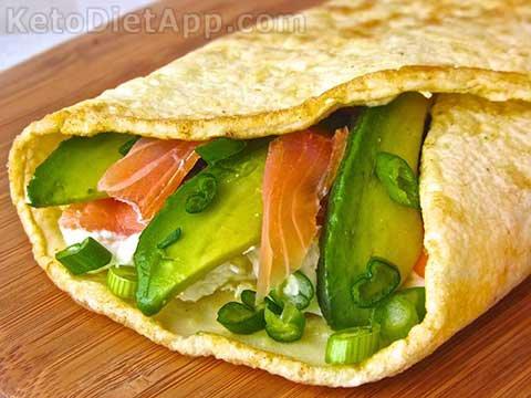 Keto Omelet Wrap with Salmon & Avocado