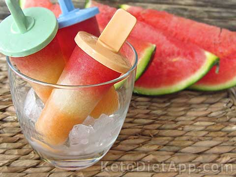 Low-Carb Triple Melon Popsicles