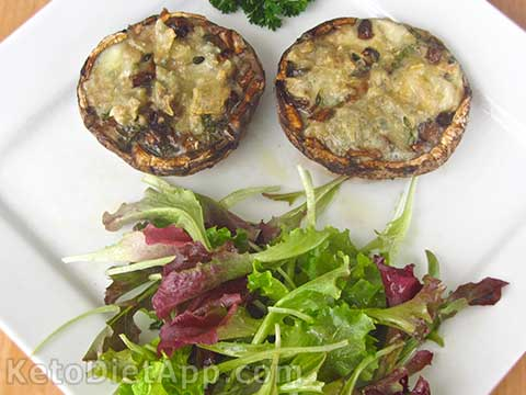 Cheese-Stuffed Portobello Mushrooms