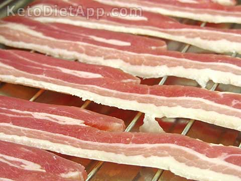 Bacon is high in saturated fat which has never been proven to be harmul for us.