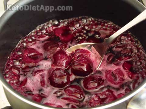Dark Cherry Chia Jam