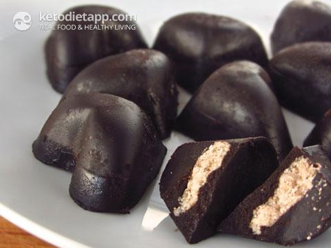 "Chocolate Coconut Candies, aka ""fat-bombs""!"
