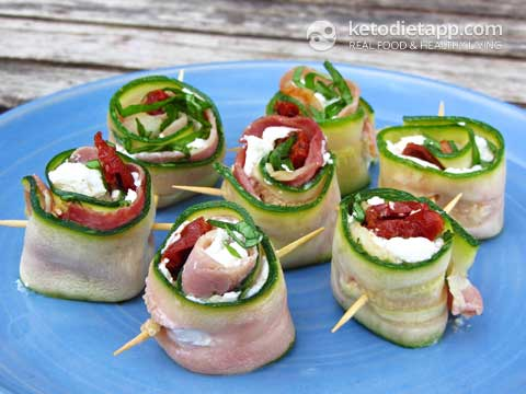Italian Marinated Zucchini Roll-Ups
