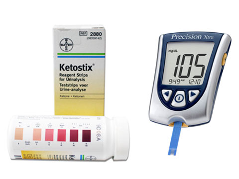 Ketostix (urine test strips) vs. Blood ketone meter