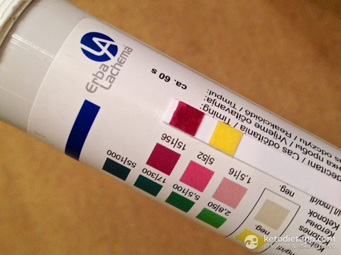 Ketosis detection sticks, high readings, day 2