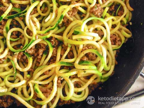"Quick Beef Ragù with ""Zoodles"""