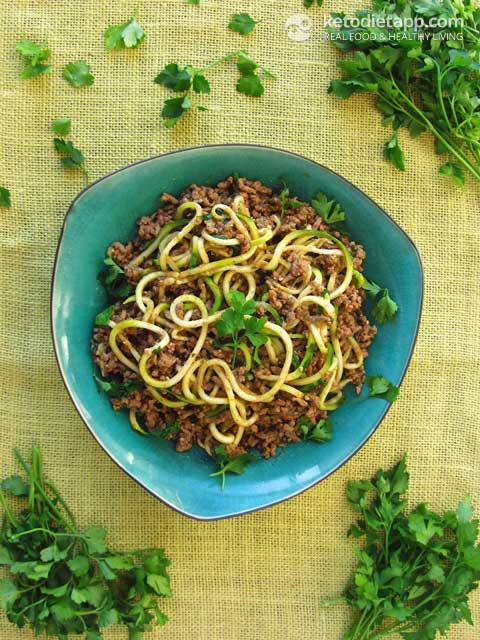 Quick Keto Beef Ragu with Zoodles