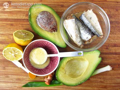 Paleo Sardine Stuffed Avocado