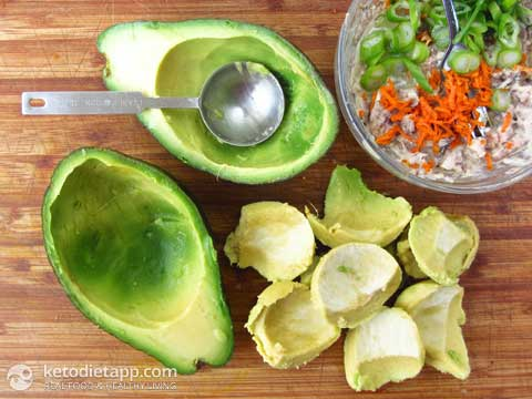|Paleo Sardine Stuffed Avocado