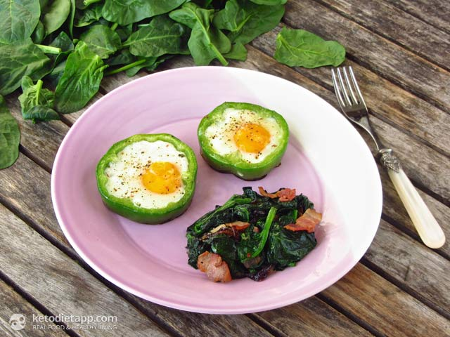 Shamrock Eggs with Braised Spinach