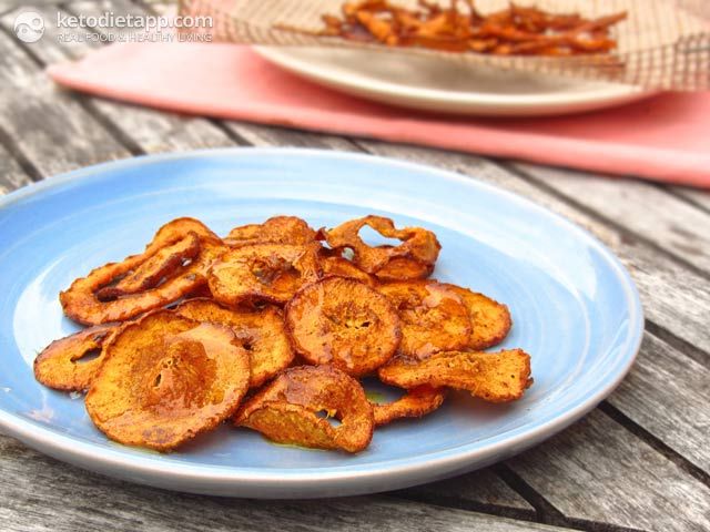 Pumpkin Pie Spiced Butternut Chips