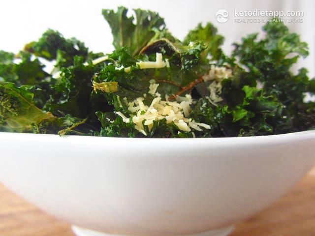 Chips & Crisps: Parmesan Kale Chips   The KetoDiet Blog