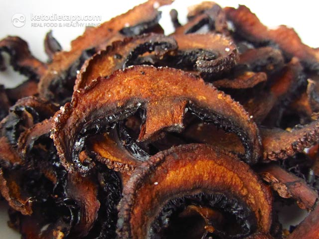 Easy Low-Carb Mushroom Chips