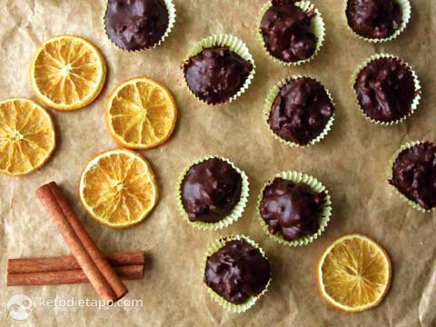 Orange & Walnut Chocolate Fat Bombs