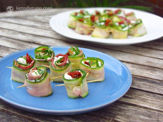 Italian-Style Zucchini Rolls | The KetoDiet Blog