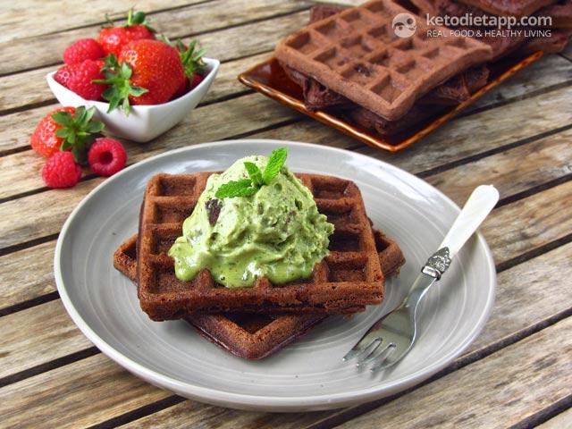 Double Chocolate Keto Waffles