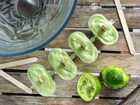 Low-Carb Key Lime Popsicles