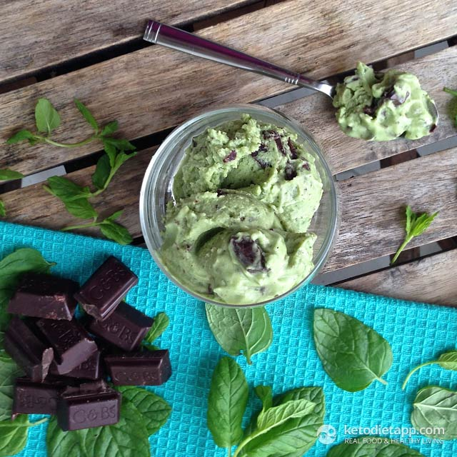 Low-Carb Mint Chocolate Chip Ice-Cream