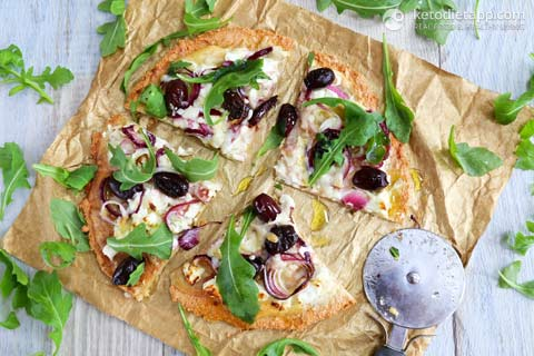 Low-Carb Thin Crust White Pizza