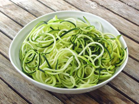 Keto Vegan Pesto Zoodles