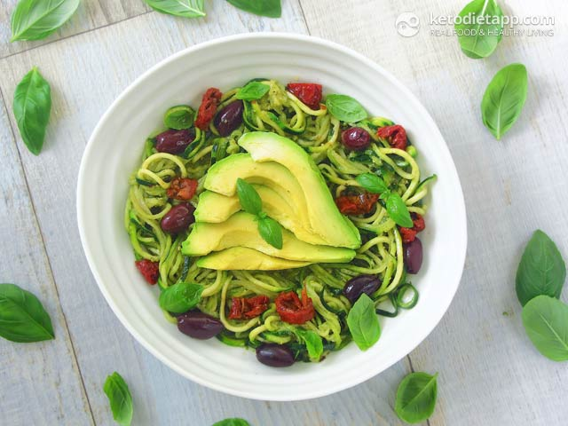 Keto Vegan Pesto Zoodles