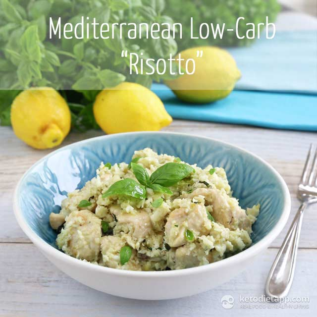 Low-Carb Mediterranean Chicken Risotto