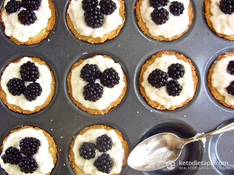 Blackberry & Lemon Mini Tarts (Low-carb, Paleo)