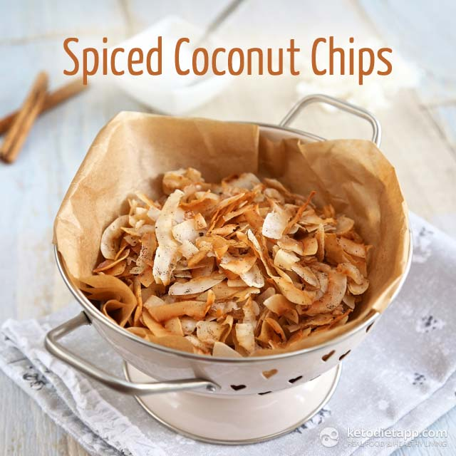 Crunchy Keto Spiced Coconut Chips