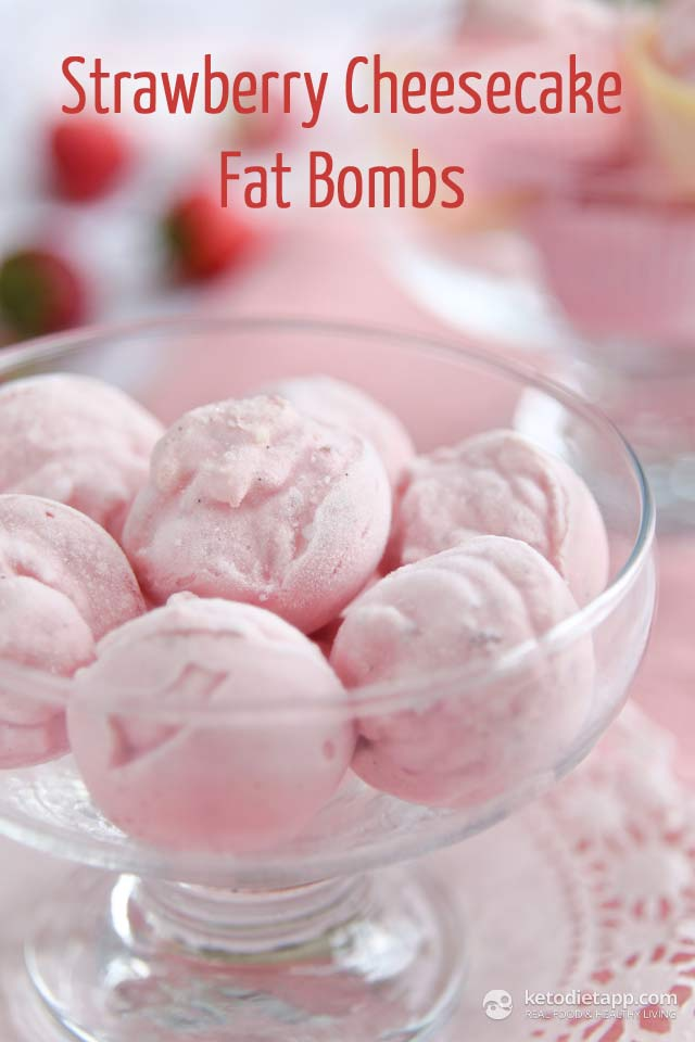 |Strawberry Cheesecake Fat Bombs