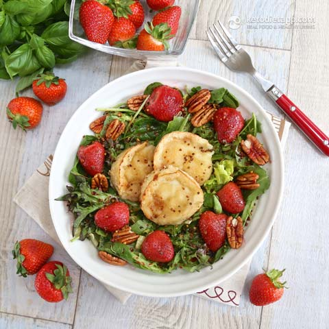 The KetoDiet Blog | Roasted Strawberry & Goat Cheese Salad