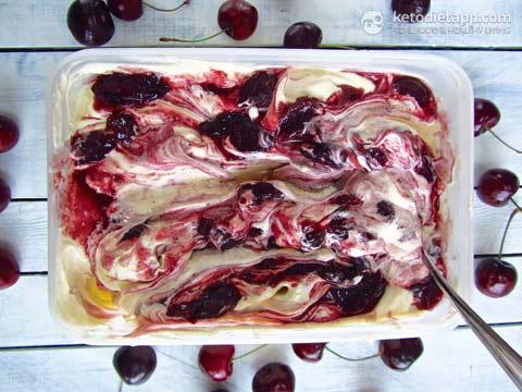 Amarena Cherry Ice-Cream (Low-Carb, Paleo)