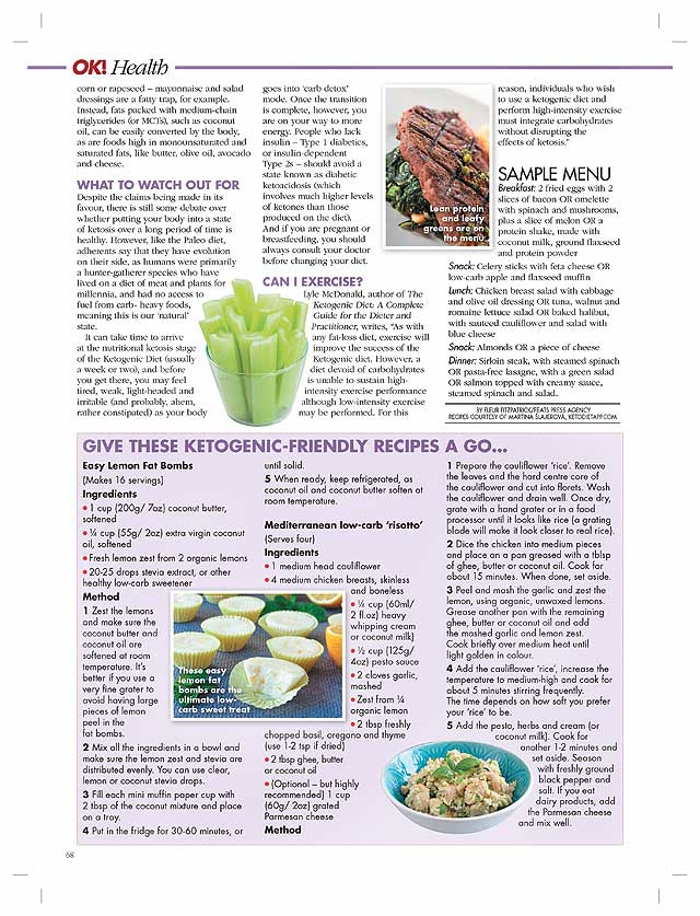 |KetoDiet Recipes Featured in OK! Magazine