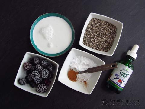 |Low-Carb Berry Chia Pudding
