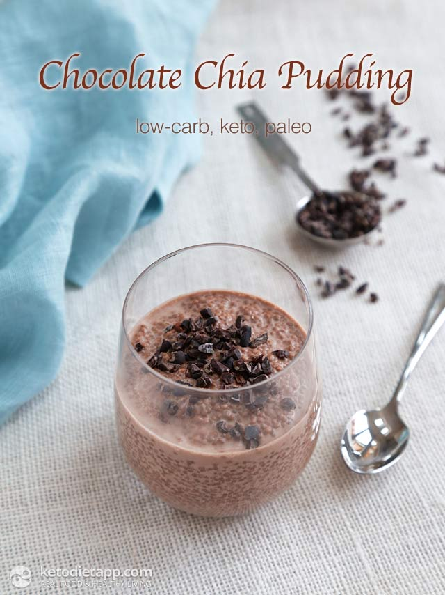 Keto Chocolate Chia Pudding