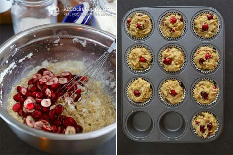 Low-Carb Cranberry & Orange Muffins