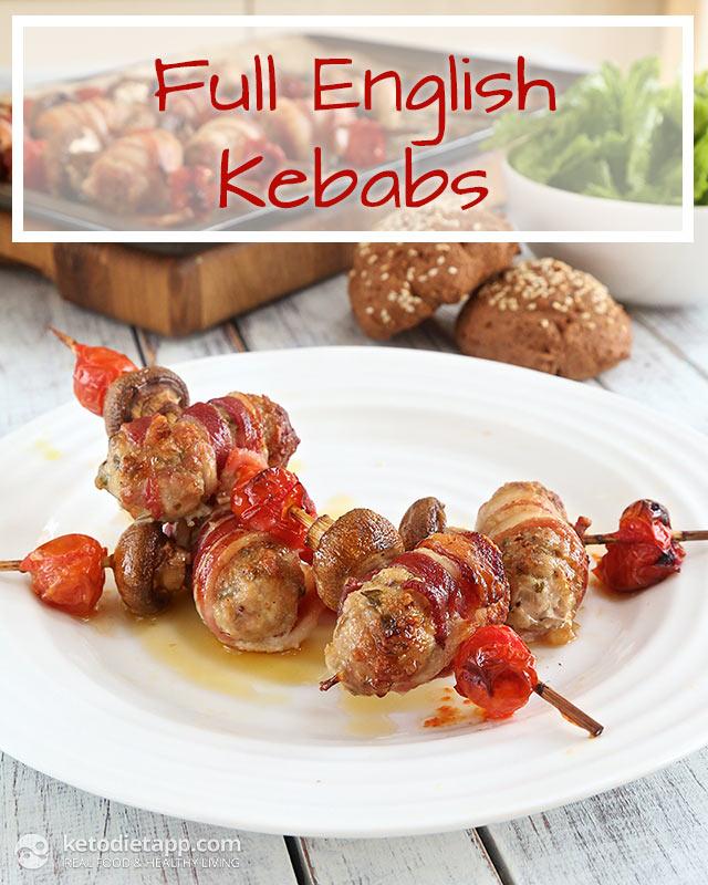 Low-Carb Full English Kebabs