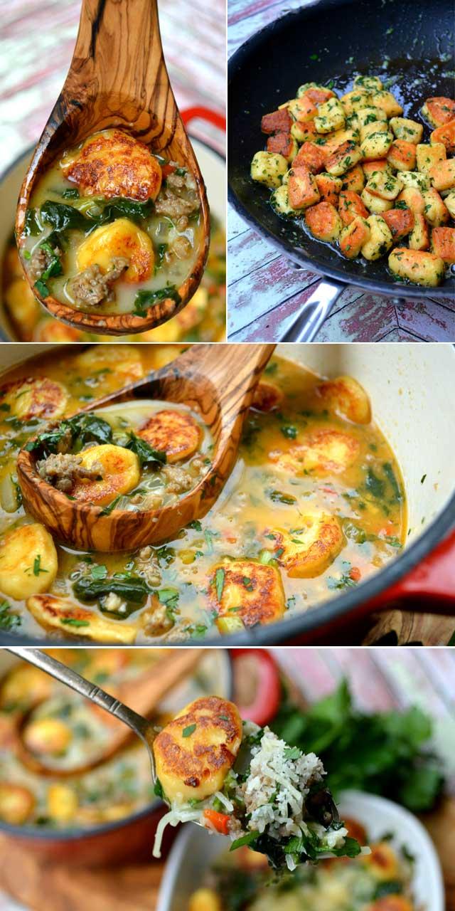Italian Gnocchi Soup aka Zuppa Toscana