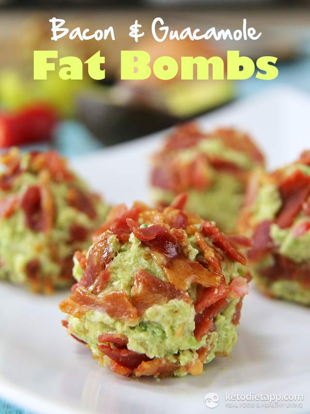 Bacon & Guacamole Fat Bombs | The KetoDiet Blog