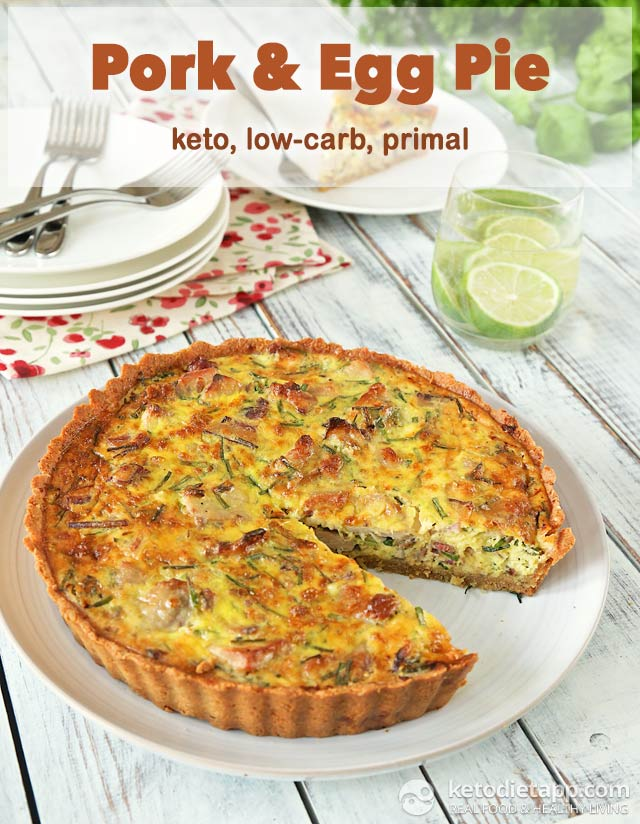 Low-Carb Pork & Egg Pie