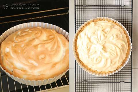 Low-Carb Raspberry Meringue Pie