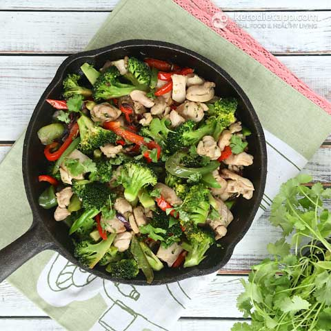 Easy Low-Carb Chicken Stir-Fry