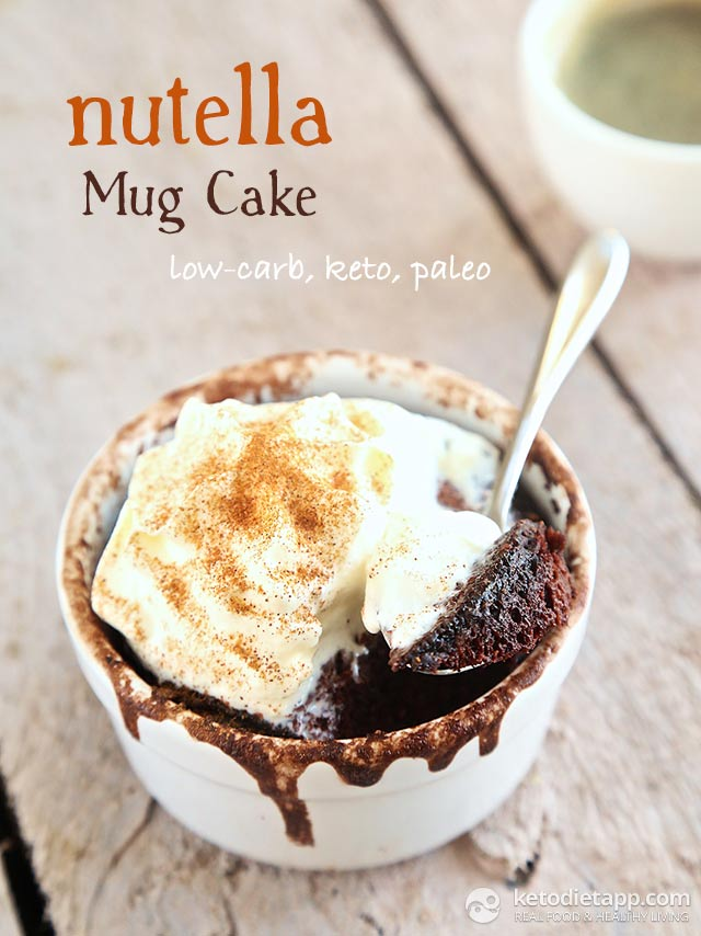 nutella mug cake the ketodiet blog. Black Bedroom Furniture Sets. Home Design Ideas