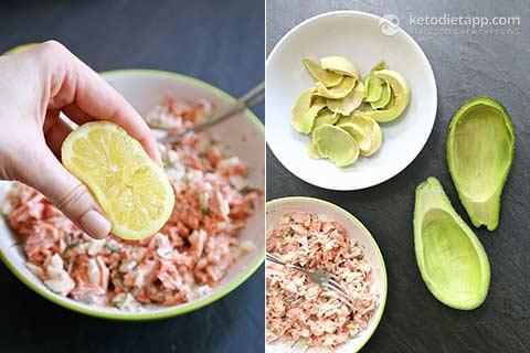Low-Carb Salmon Stuffed Avocado