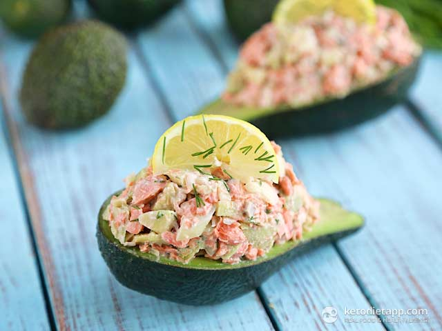 Low Carb Salmon Stuffed Avocado The Ketodiet Blog