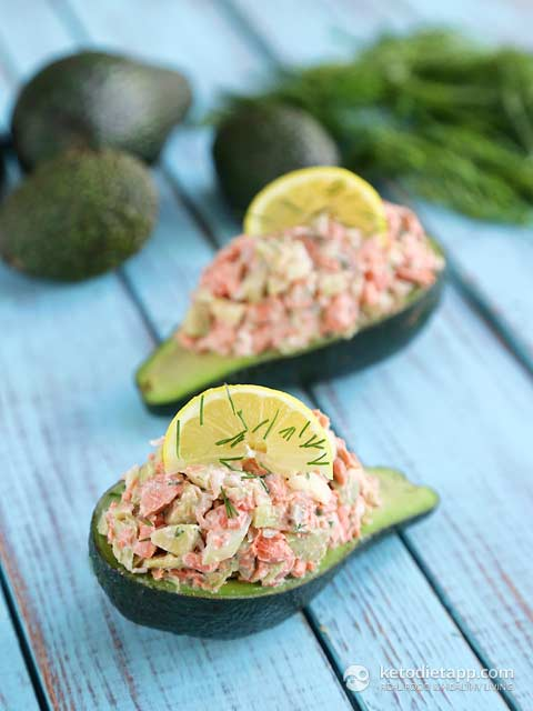 Low-Carb Salmon Stuffed Avocado
