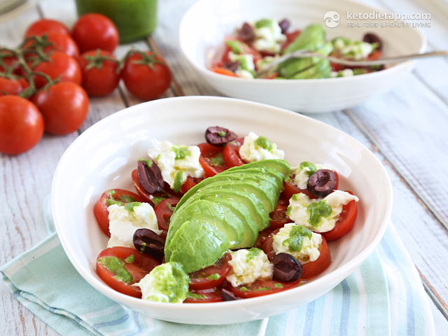 Classic Tricolore Salad | The KetoDiet Blog