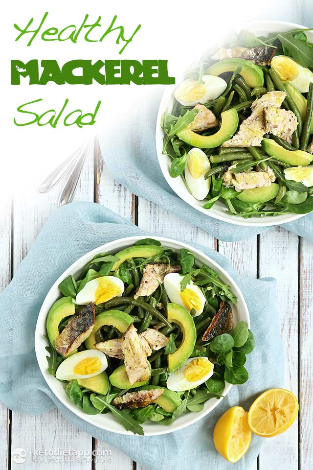 Healthy Low-Carb Mackerel Salad